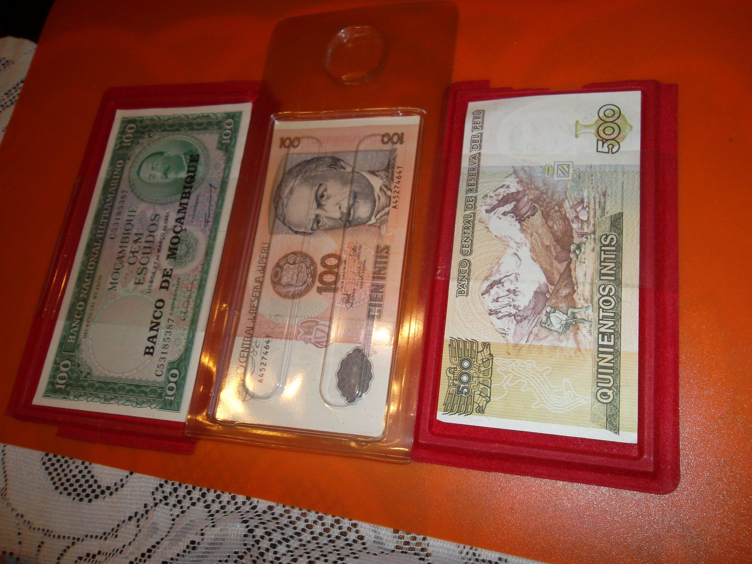 Banknoty kolekcjonerskie.Ameryka poludniowa
