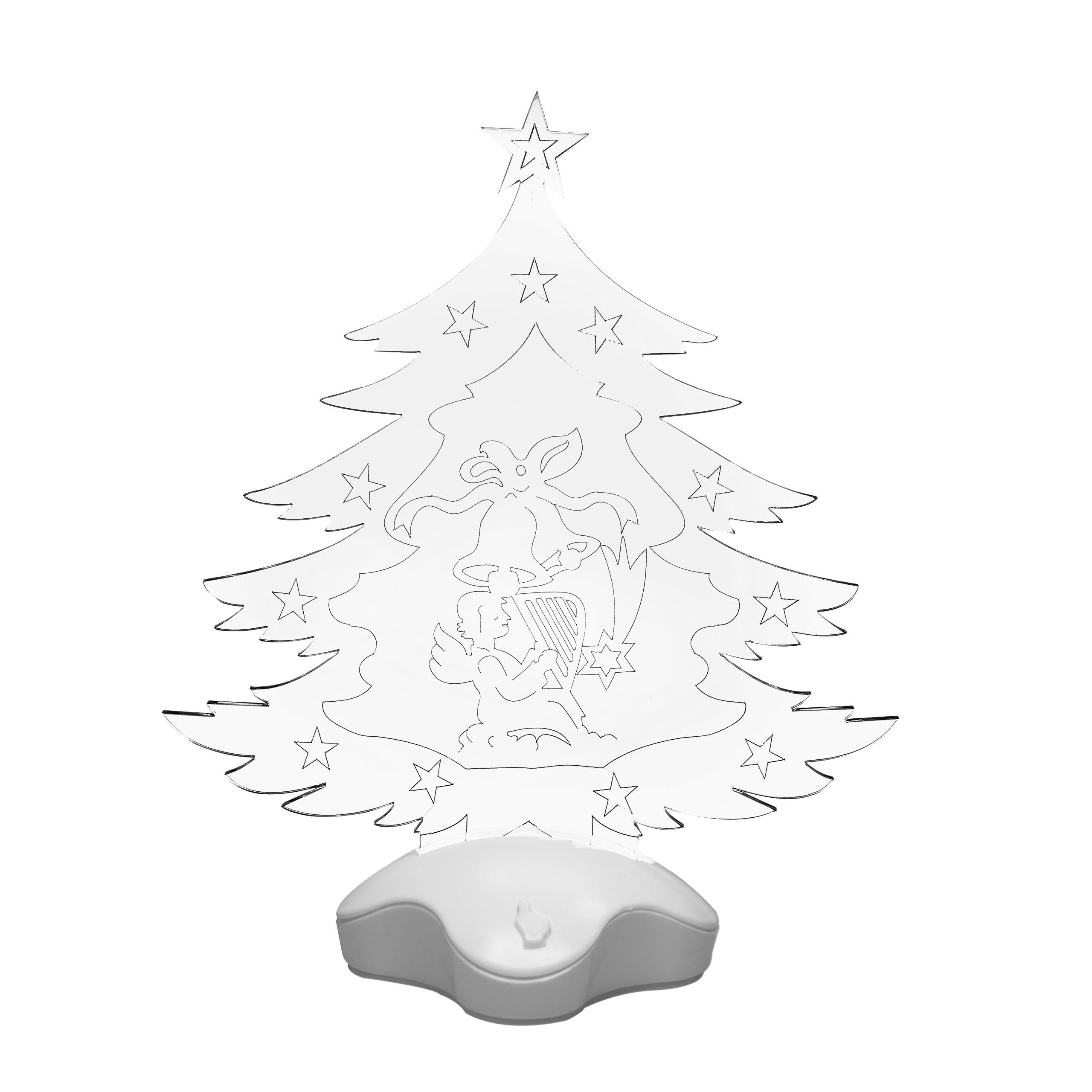 świecąca Choinka Led 26 Cm Dekoracja świąteczna
