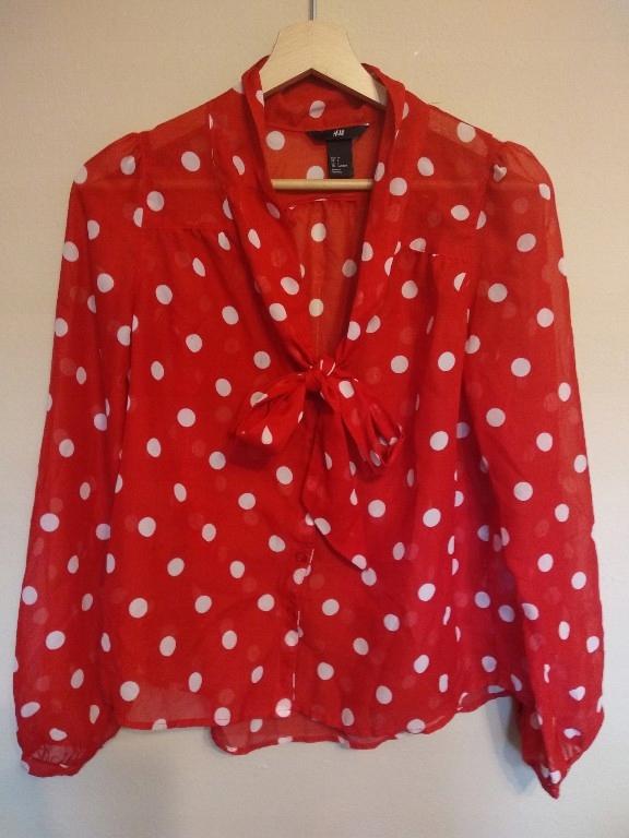 e20cc9db3ed907 H&M koszula w kropki XS mgiełka zara mango - 7520269875 - oficjalne ...