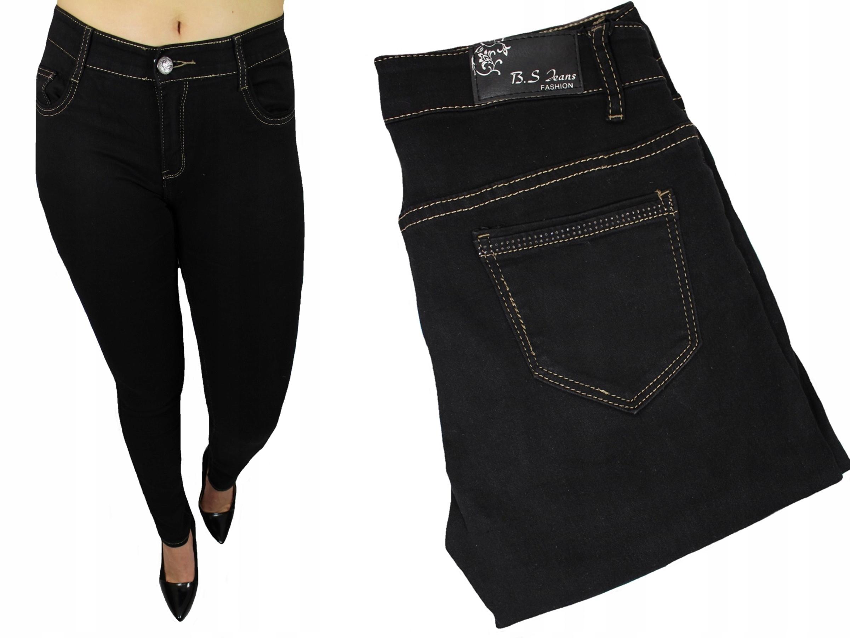 61e912bbb98b Klasyczne czarne miękkie spodnie JEANS rurki 44 - 7695937608 ...