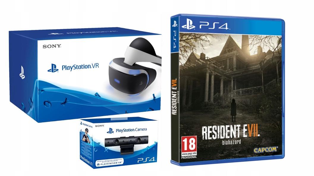 SONY PLAYSTATION VR + KAMERA + GRA Resident Evil 7