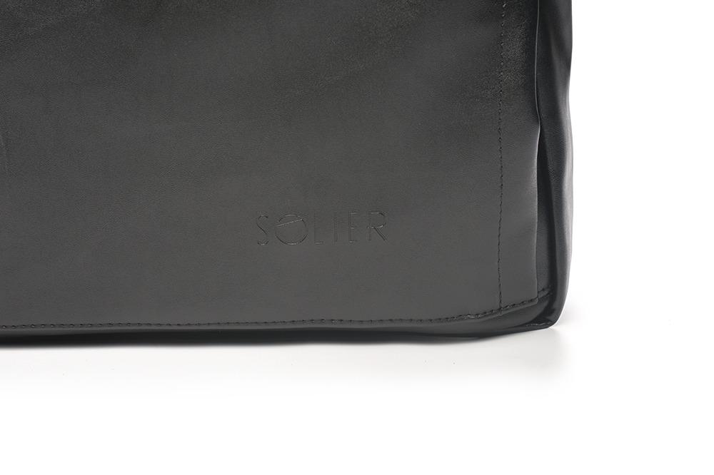 ed343acac2073 Czarny elegancki plecak miejski Solier FORRES - 7293807367 ...