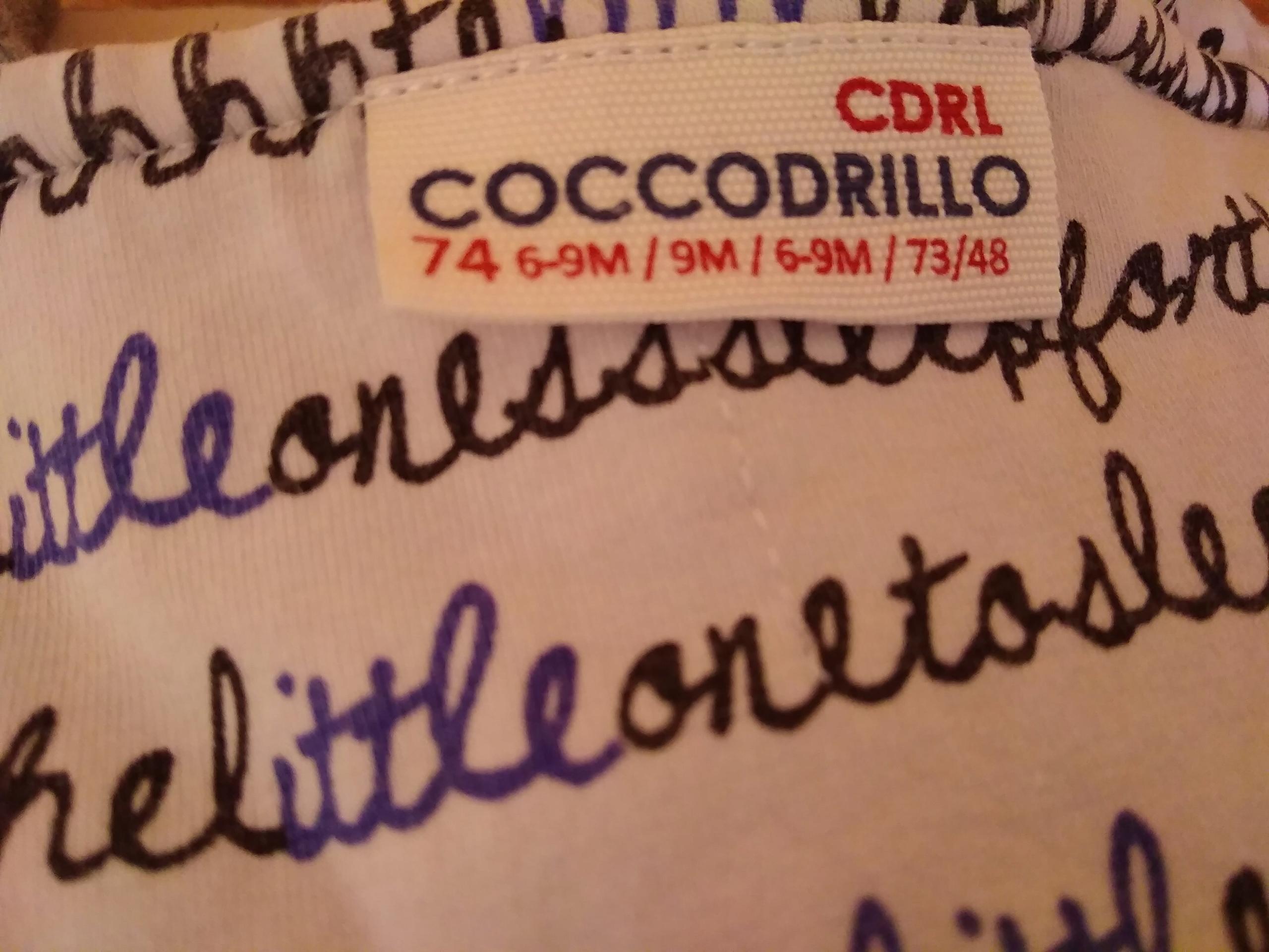 ciepły komplet bluza spodnie cocodrilo 74 6-9 msc