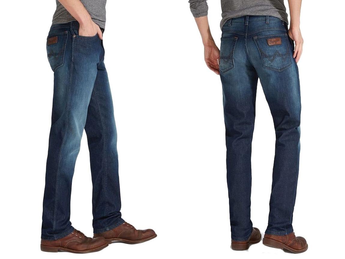 7acab0d7a34565 Spodnie Wrangler Texas Frisky Business W38 L32 - 7098611536 ...