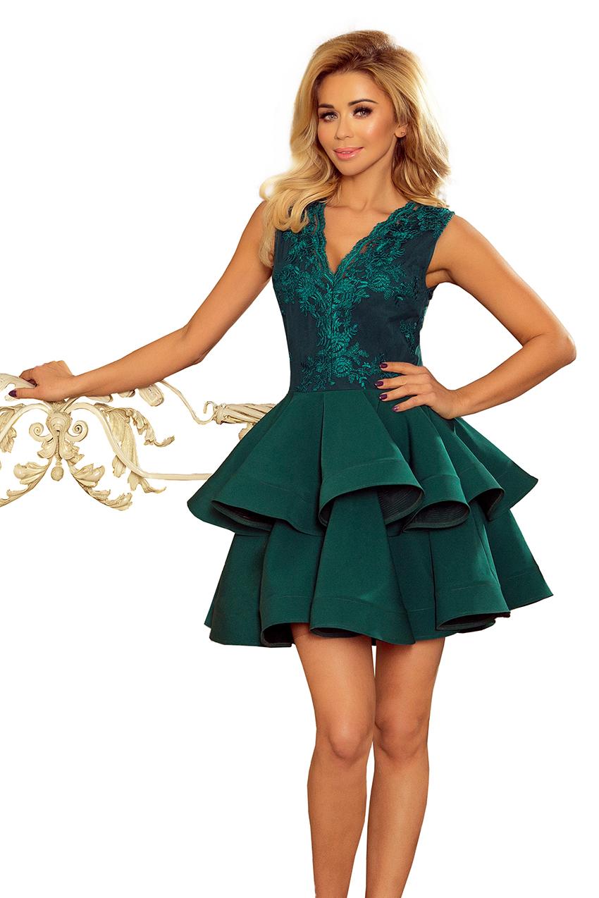 2fd2f358af4be6 CHARLOTTE ekskluzywna sukienka dekolt ZIELONA - L - 7306872447 ...