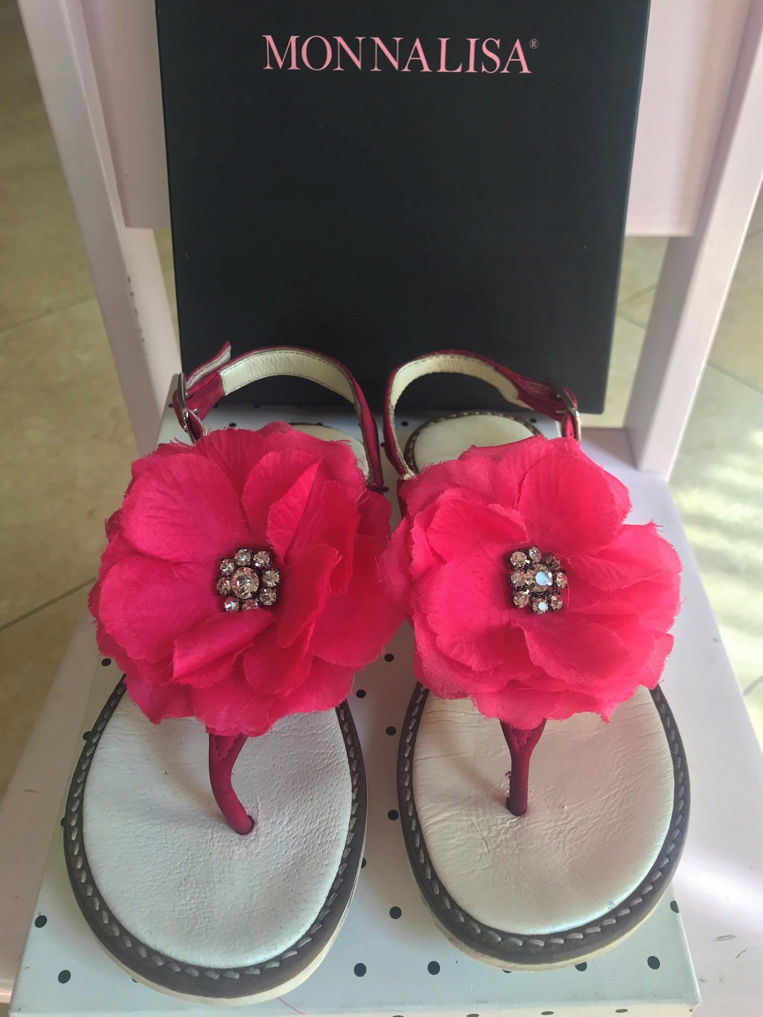MONNALISA piękne sandałki peonie CUDNE r.30 SALE!!