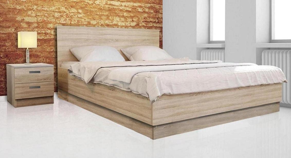 łóżko Stelaż Szafkimaterac Sonoma 160x200 7410887901