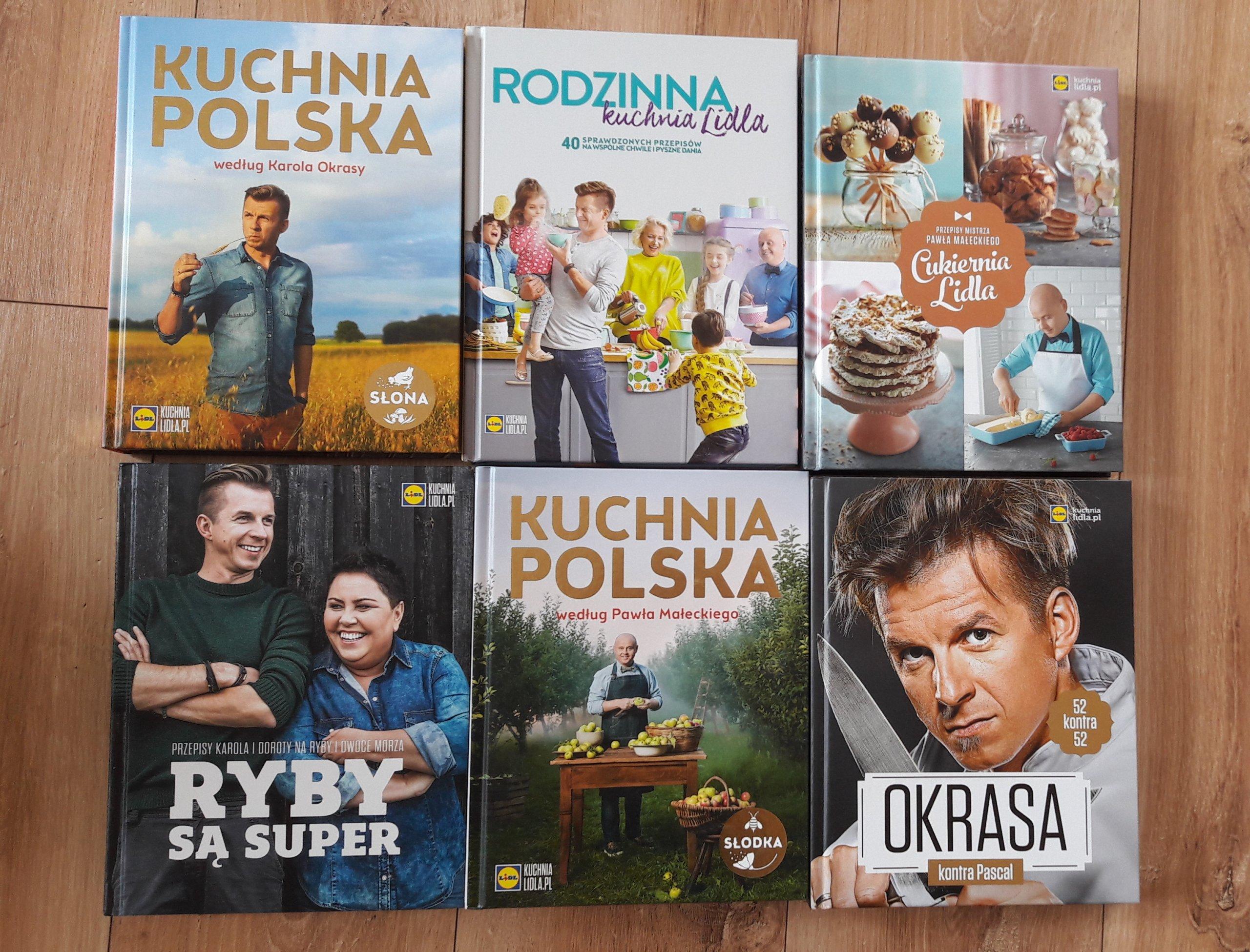 Książki Kuchnia Lidla 6 Sztuk Zestaw 7234770059
