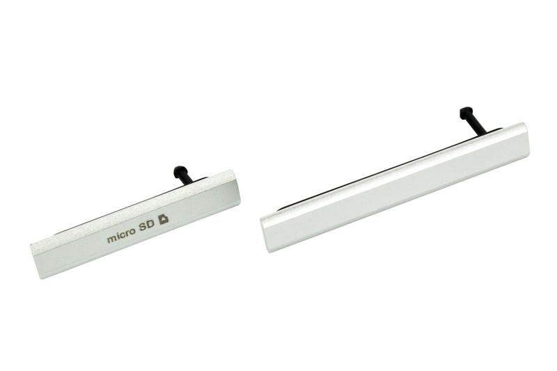 SONY XPERIA Z2 D6503 2szt ZAŚLEPKA USB SD SREBRNY