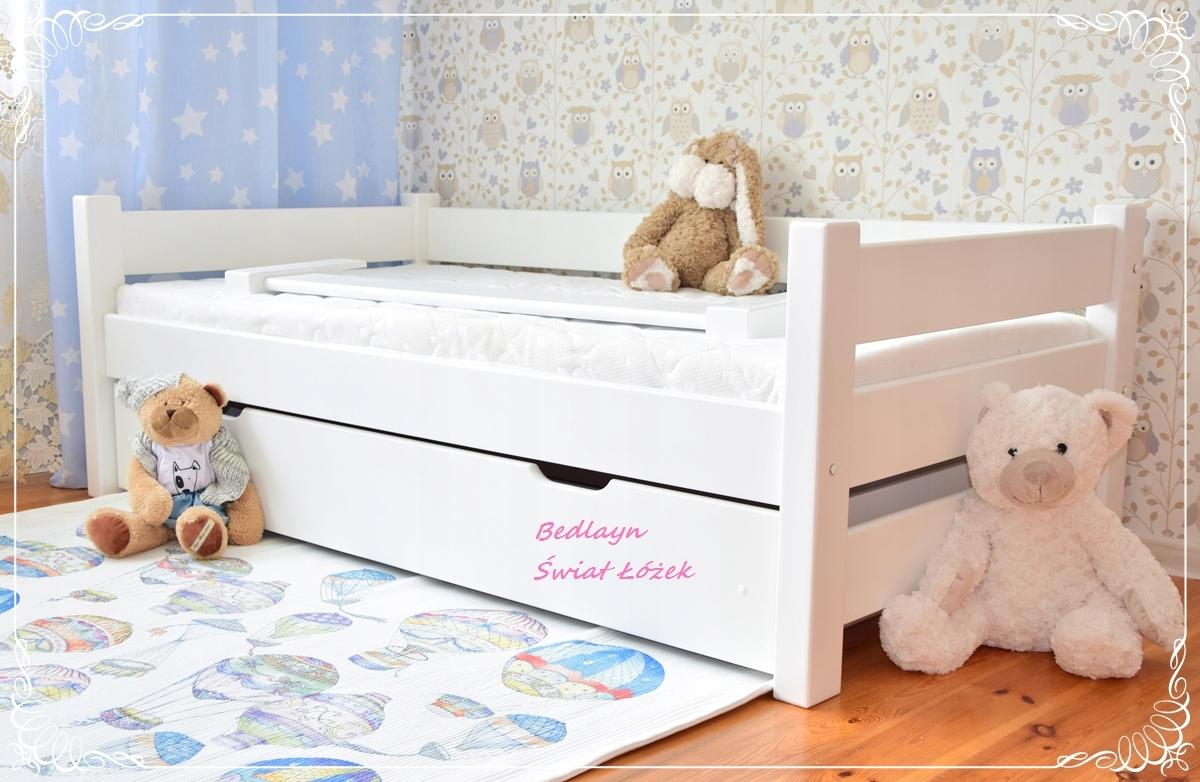 łóżko łóżka Dla Dzieci Drewniane Materac Barierka 7335751100