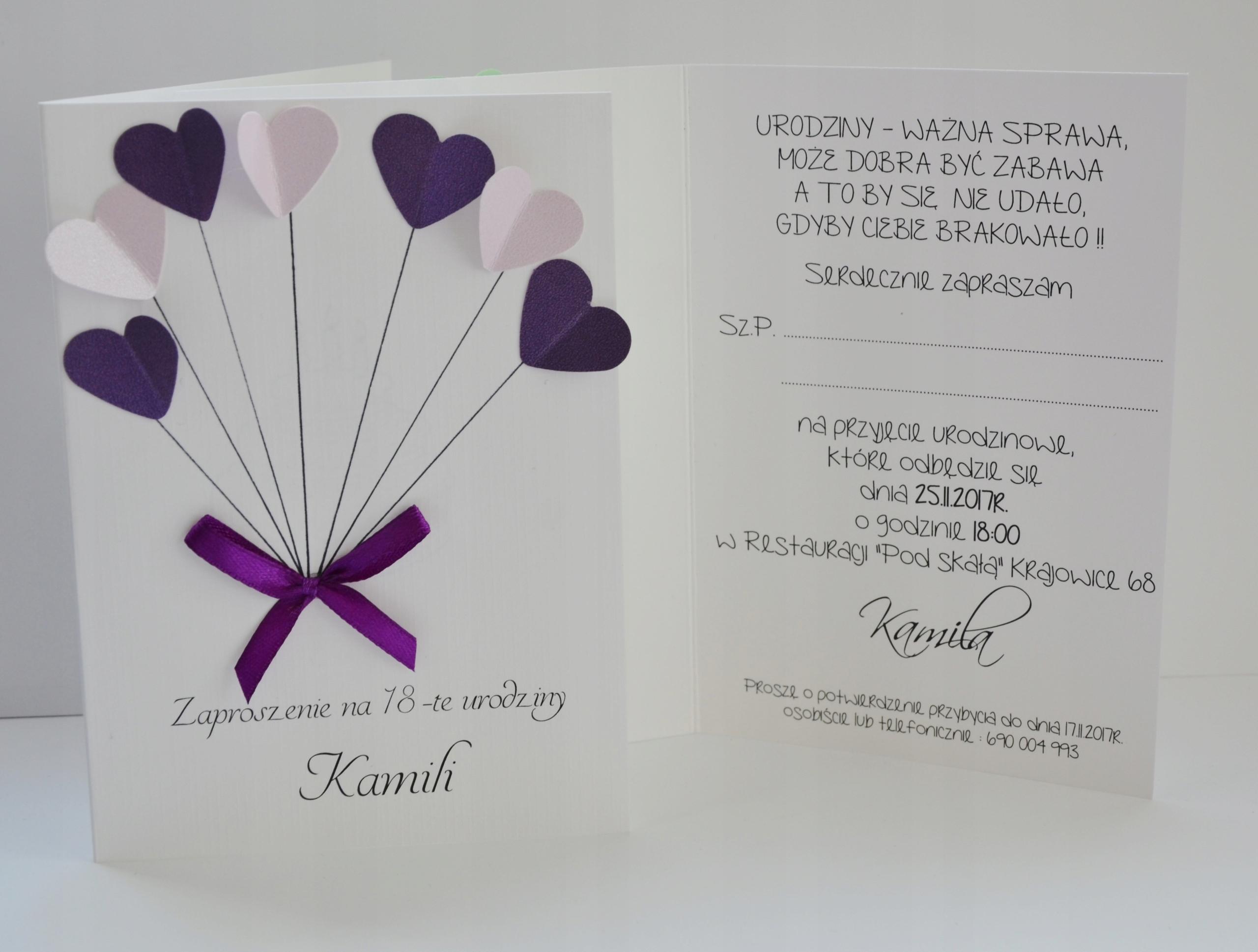 Zaproszenia Na Urodziny Zaproszenie Na Roczek Kop 7581271341