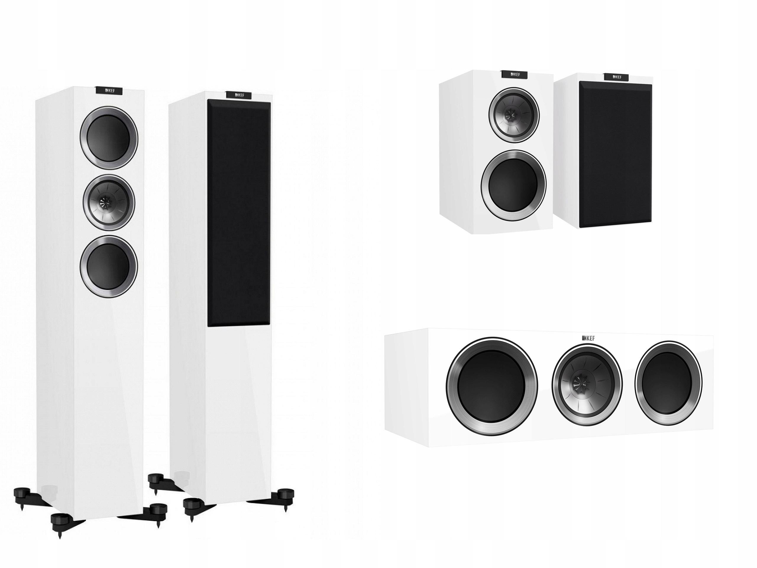 Kef R500 + R300 + R200c White High-Gloss