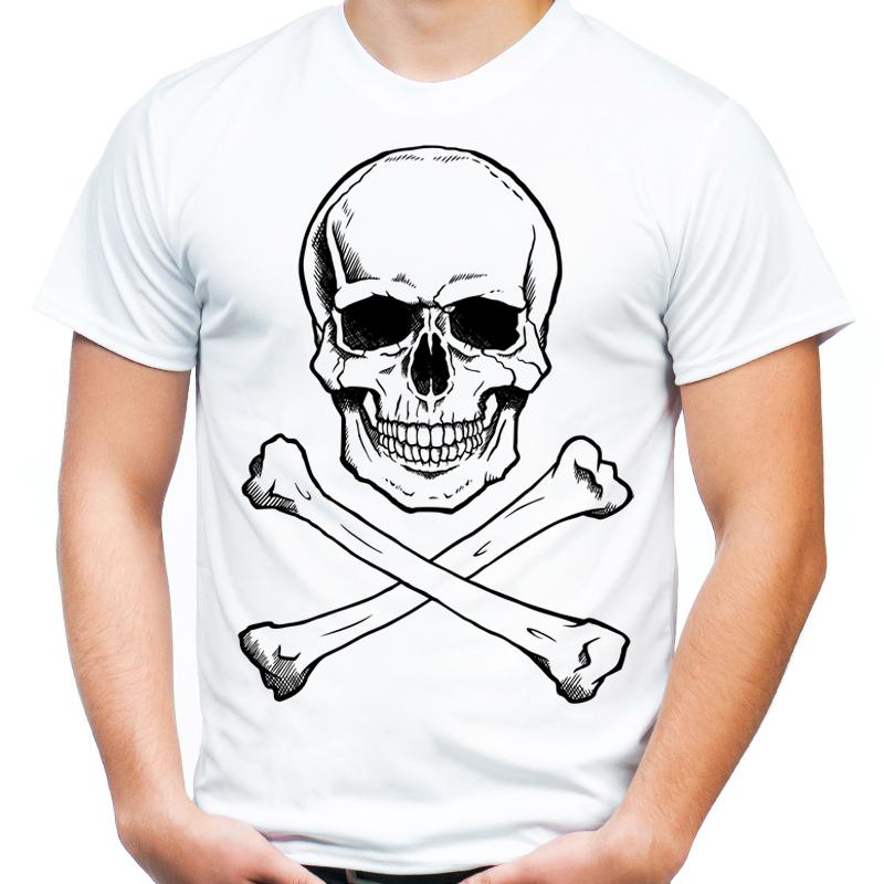 e4cd3128b Koszulka z czaszką i piszczelami skull czaszka XXL - 7127016084 - oficjalne  archiwum allegro