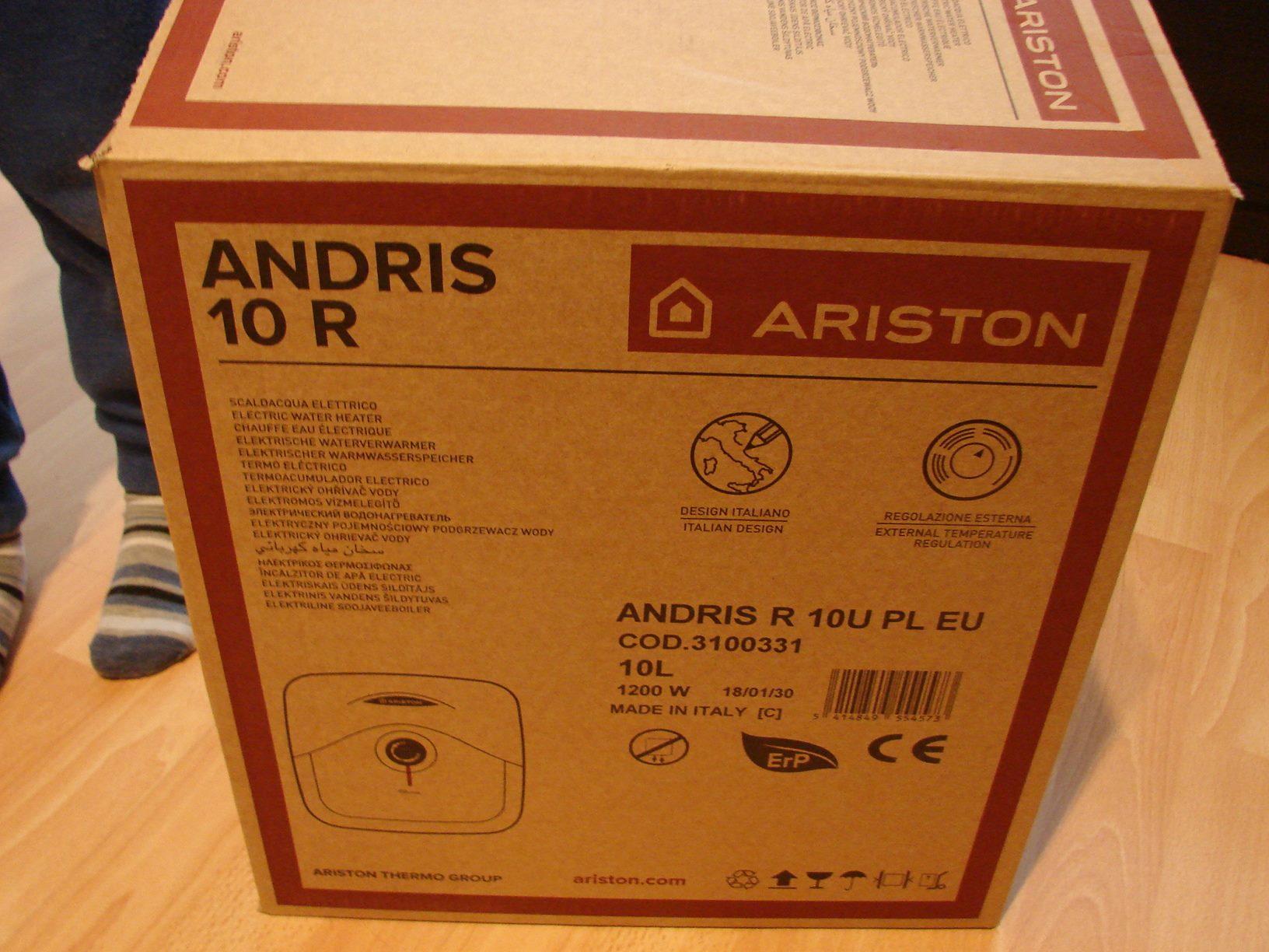 Podgrzewacz Wody Podumywalkowy 10l Ariston Andris 7432632587 R 10 L 200 Watt Electric Watet Heater