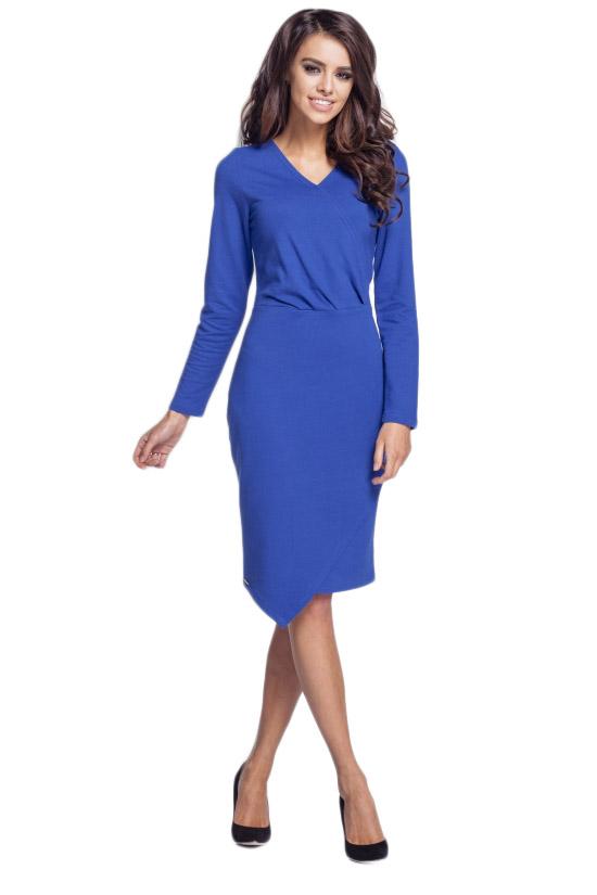 abcd9fa693 L164 sukienka z przedłużonym dołem chaber M (38) - 7140734255 ...
