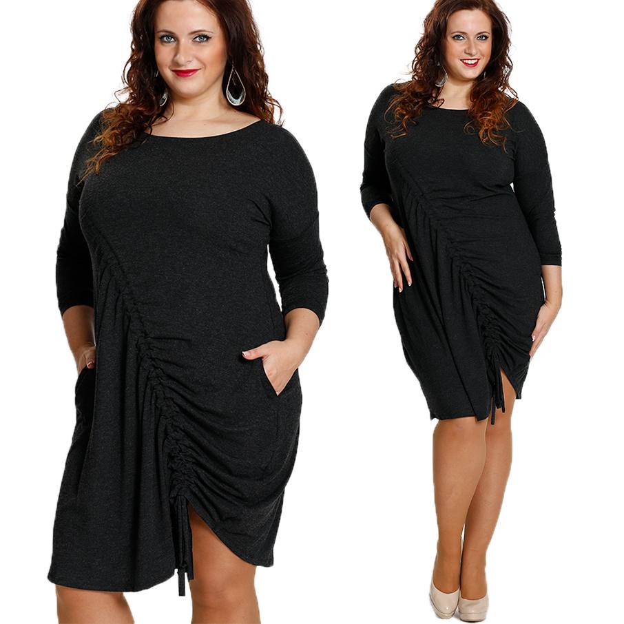 77a4126901 Sukienka drapowana marszczona P60 Duży Rozmiar 44 - 7079748703 ...