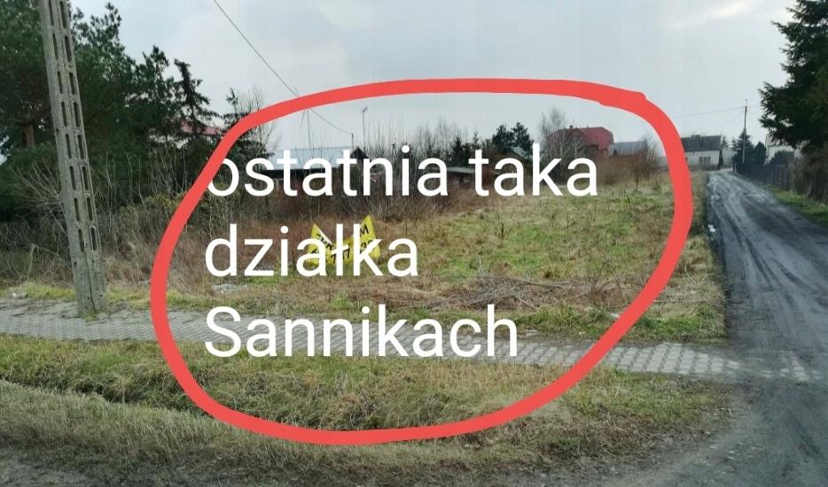 Działka budowlana w Sannikach