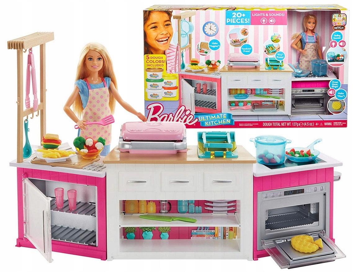 Barbie Idealna Kuchnia Lalka Swiatlo Dzwiek Frh73 7534025707