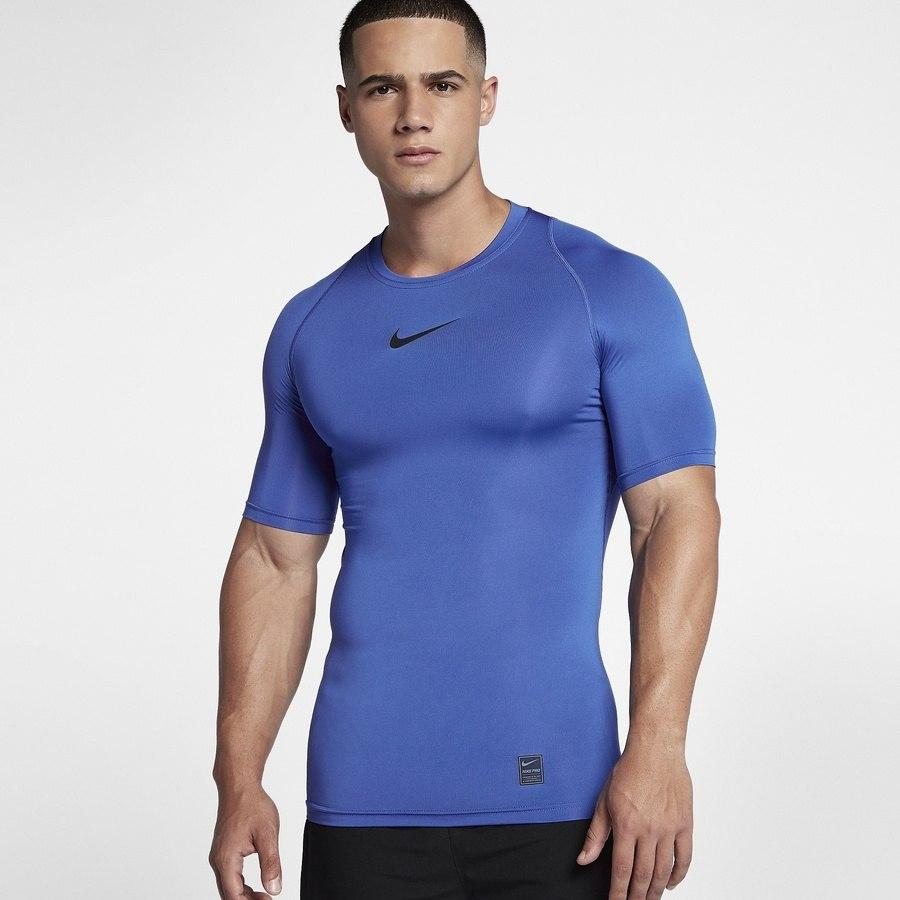 Koszulka Nike M NP TOP SS Comp L niebieski