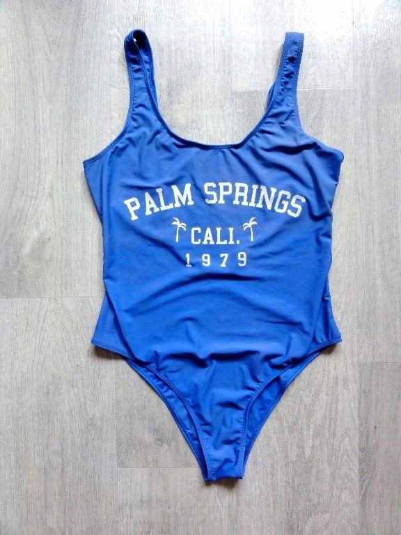 sexy niebieski jednoczęściowy strój kąpielowy 44