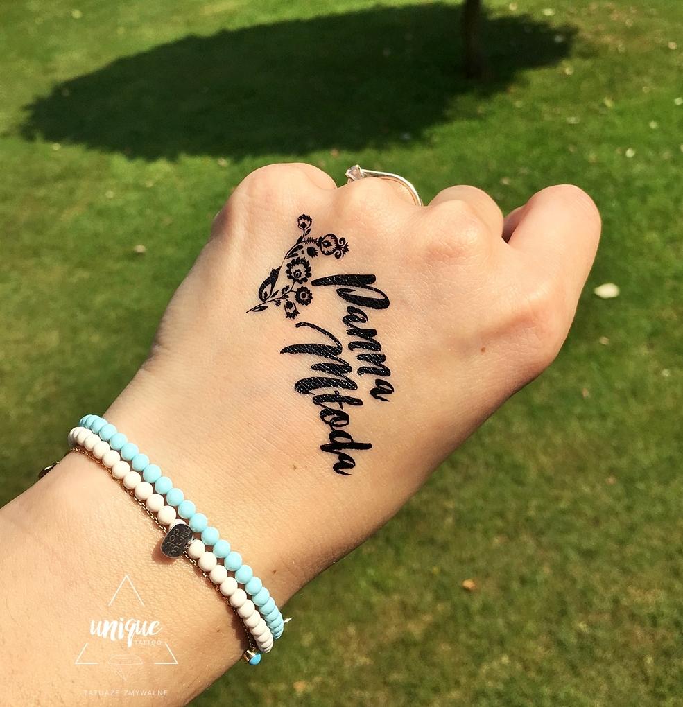 Panna Młoda łowickie Klimaty Tatuaż Maki Kwiaty 7384828298