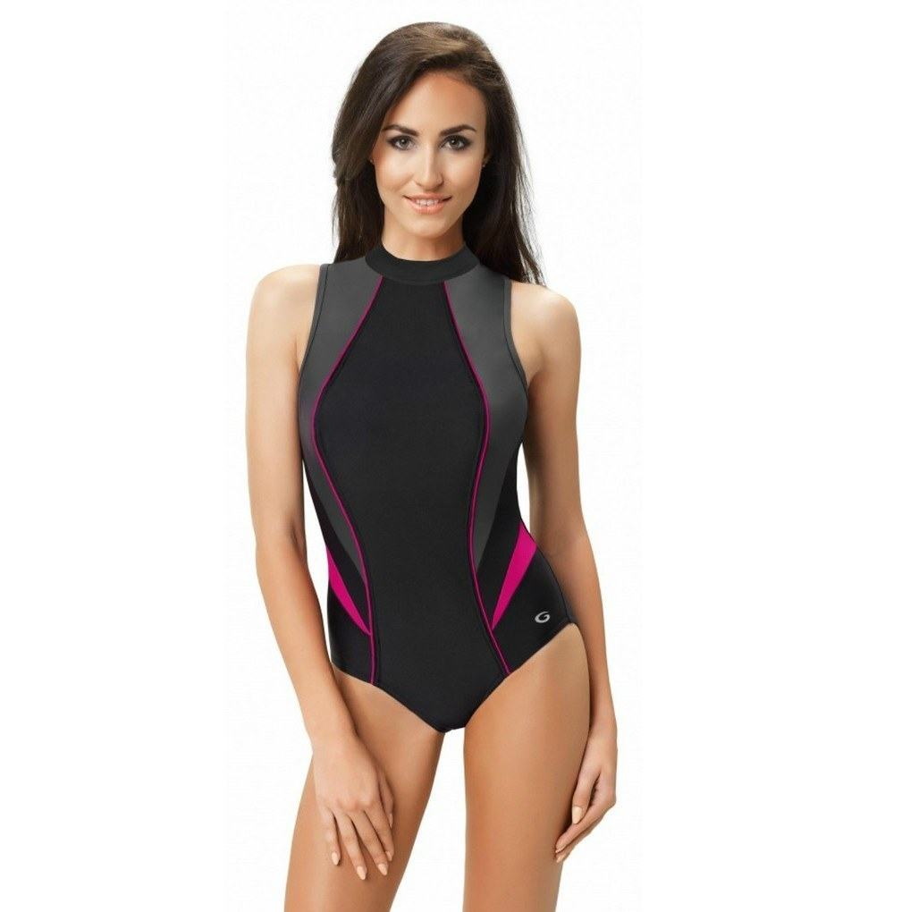 bbcd9bf59e9011 Strój kąpielowy jednoczęściowy kostium pływacki 40 - 7341646308 ...