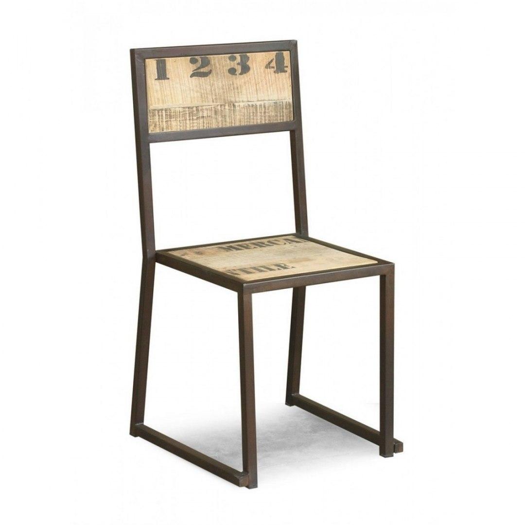 Genialny Meble indyjskie - krzesło w stylu industrialnym - 7621388718 IT77
