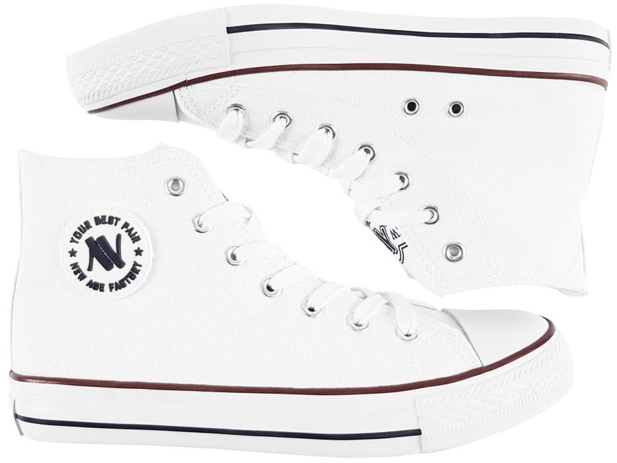 e11b053c8d5a1 NEW AGE trampki damskie białe wysokie 082 buty 38 - 6986787054 ...