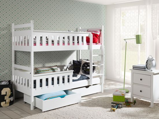 łóżko Piętrowe 2 Osobowe Tezuś 90200 Materace
