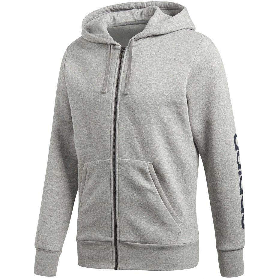625408bf5651 Bluza męska adidas ESS LIN FZ HOODB szara BQ9636 - 7612248983 ...