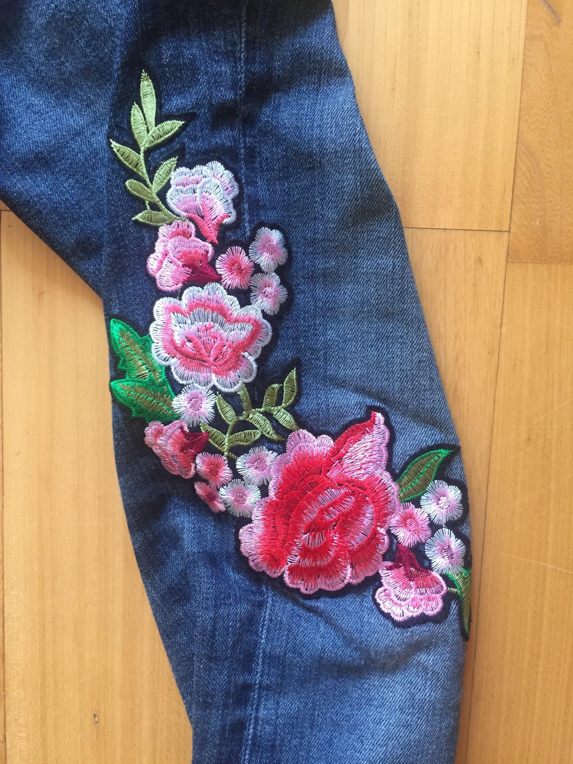 3b588efb ZARA jeansy hafty kwiaty 36 S - 7380575892 - oficjalne archiwum allegro