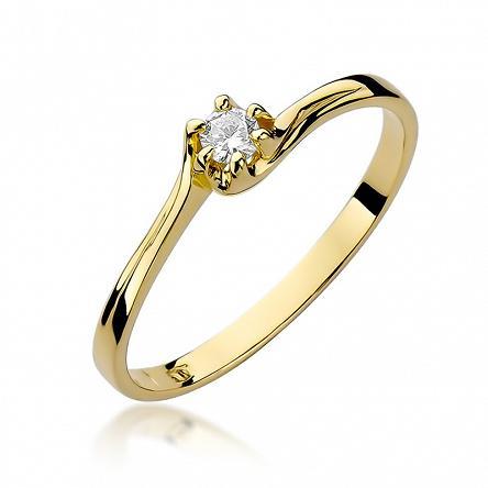 Pierścionek Zaręczynowy Z Brylantem Grawer 6892286560 Oficjalne