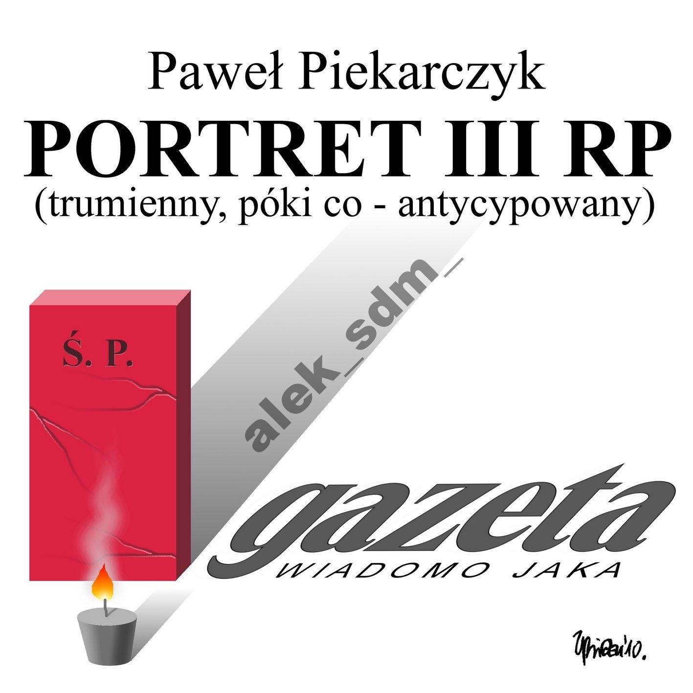 PORTRET III RP - Paweł Piekarczyk - CD ORYGINAŁ