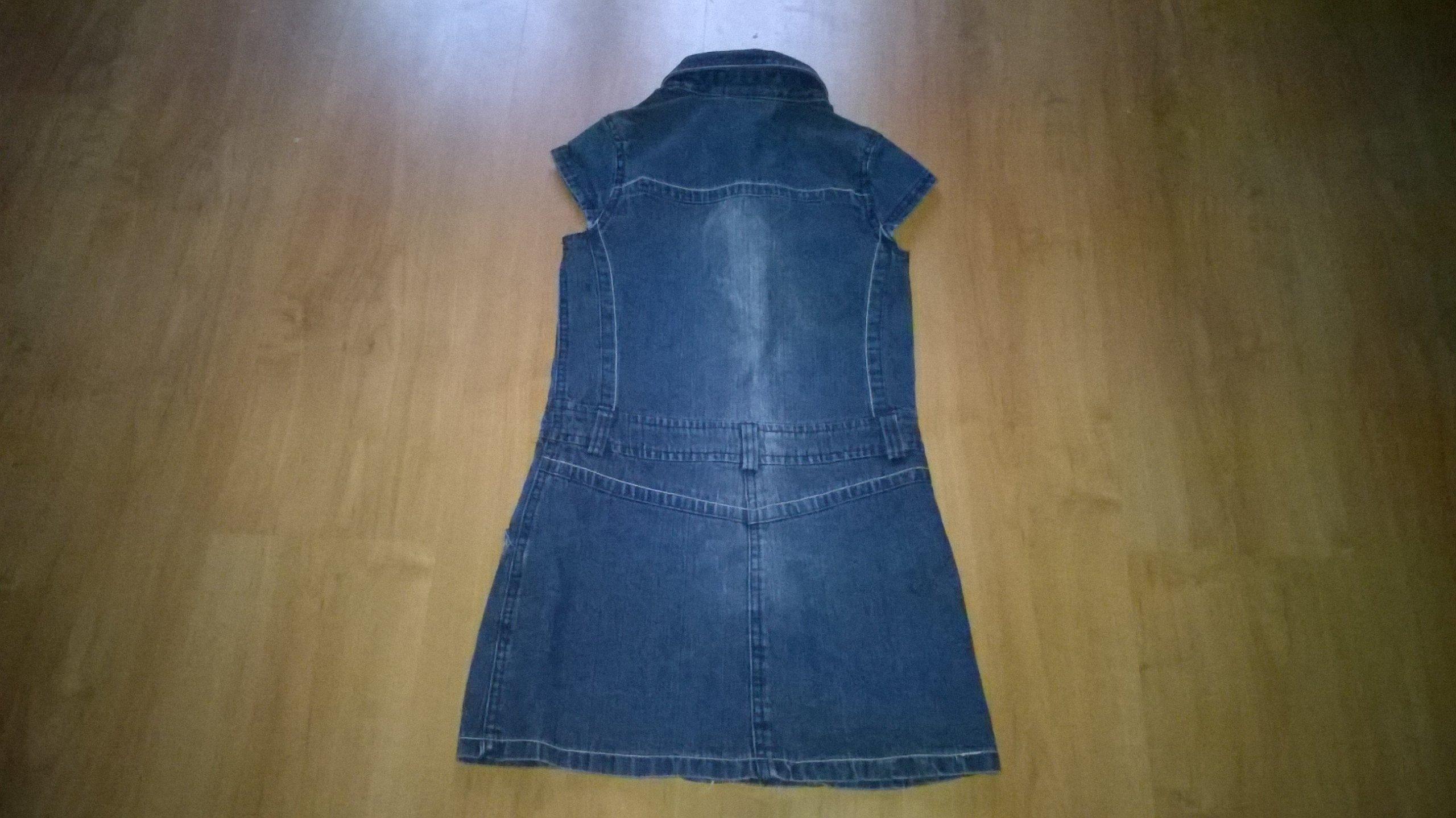 92a7ac0a3b sukienka dzinsowa dla dziewczyny rozm 134 - 7160954127 - oficjalne ...