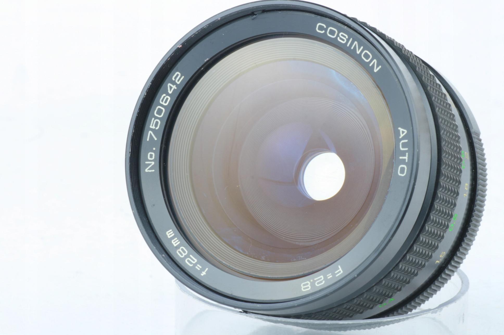 szeroki kąt COSINON 1:2 8 f=28mm COSINA JAPAN - 7737375177