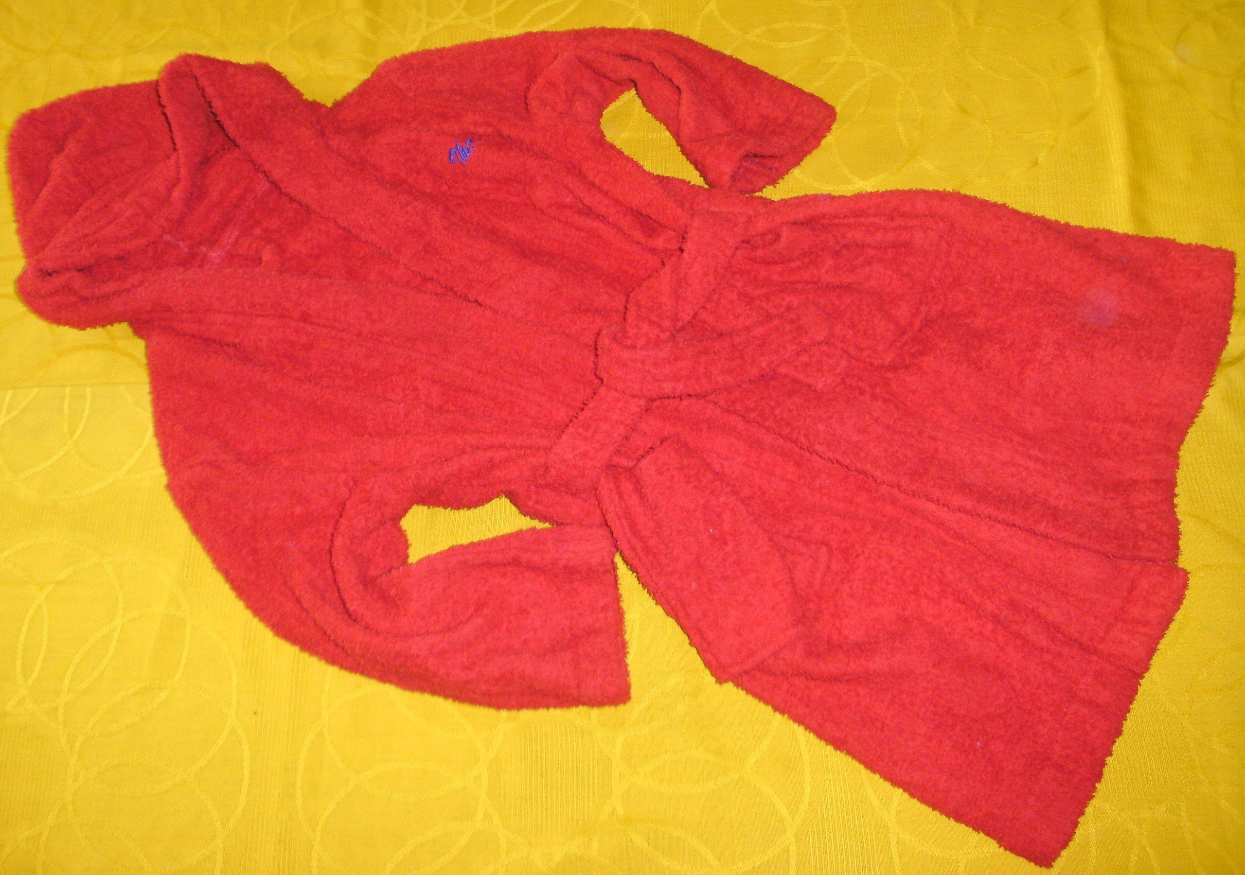 38a9df7d6f0f3 Szlafrok frotte czerwony 116 cm 5-6 L - 7245348522 - oficjalne ...