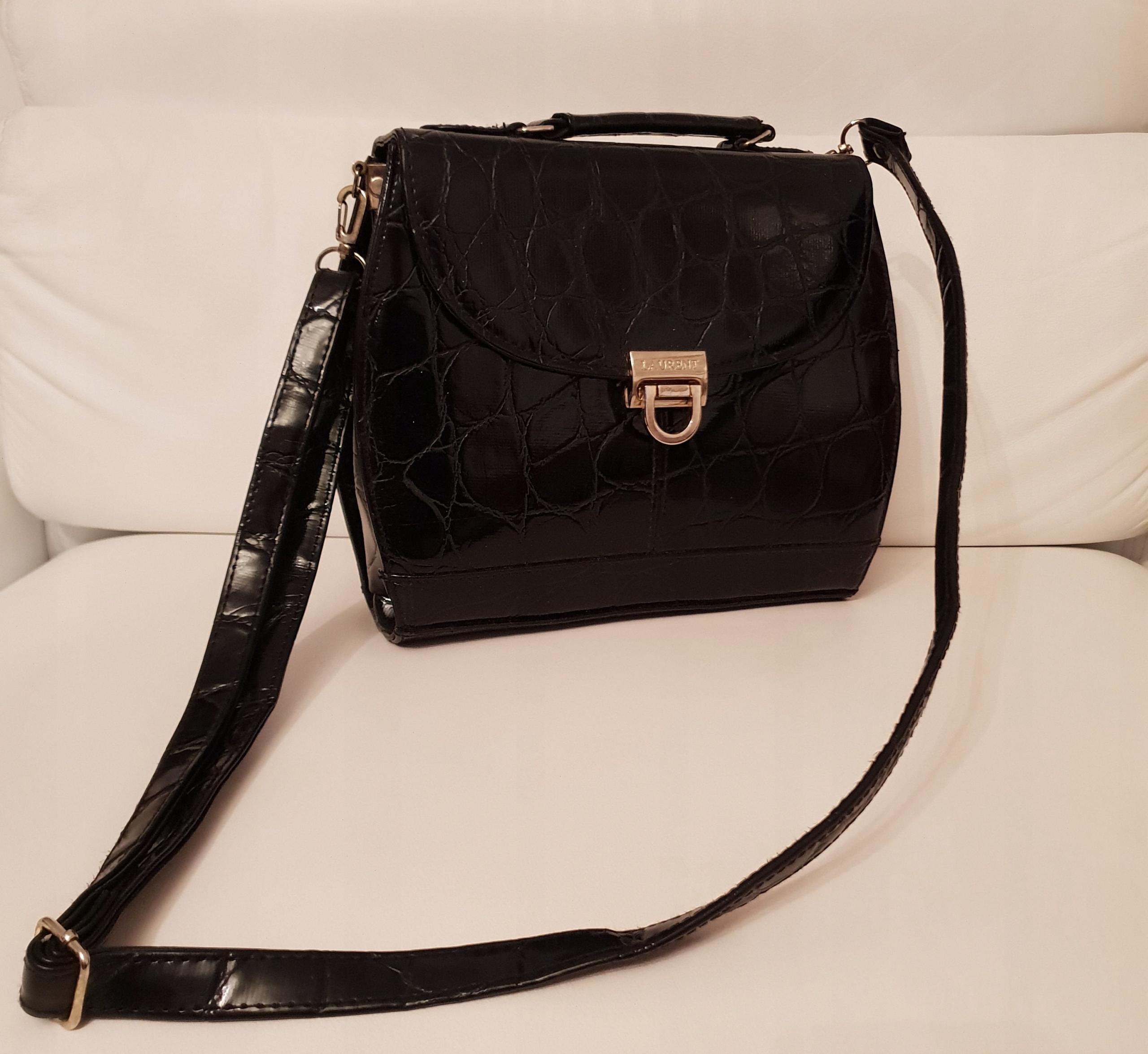 b56338be9c194 Laurent Chanel Prada Vuitton Skórzana Torebka - 7708868731 ...