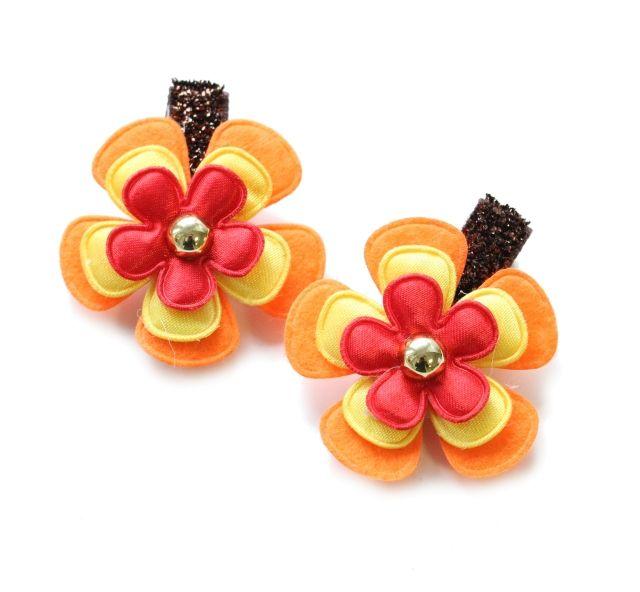 Spinki do włosów SZPULINKA Kwiatki Autumn