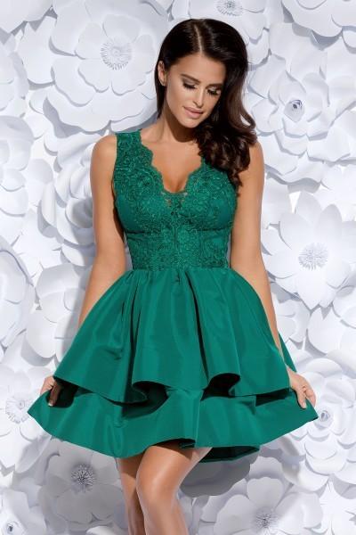 109a488efa Sukienka z koronkowym gorsetem - zielona M - 7346677855 - oficjalne ...