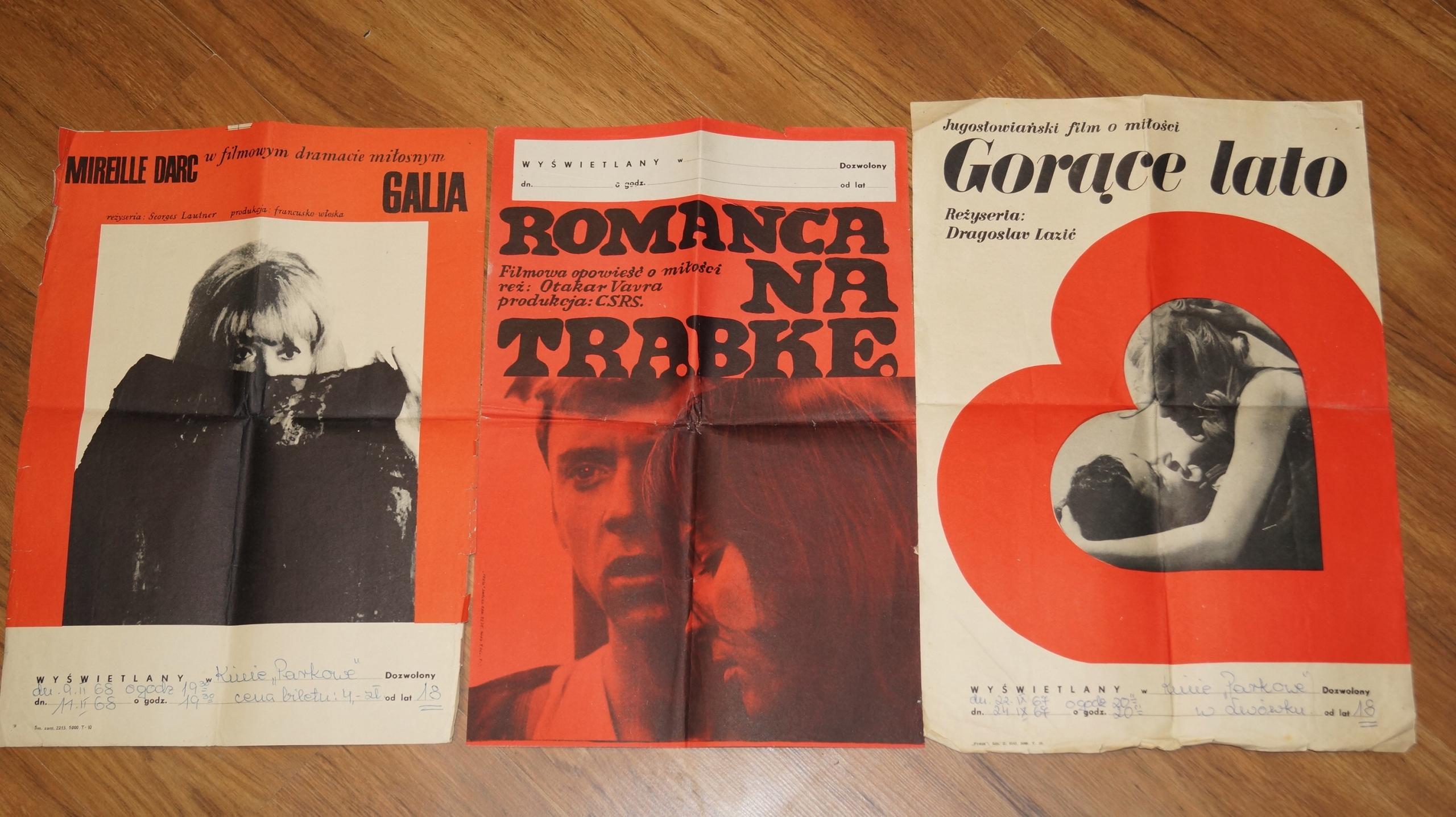 3 Plakaty Filmowe Lata 60 Te
