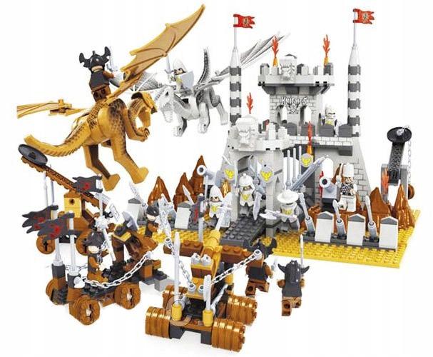 Rycerze KNIGHTS Zamek Oblężenie WALKA SMOKÓW