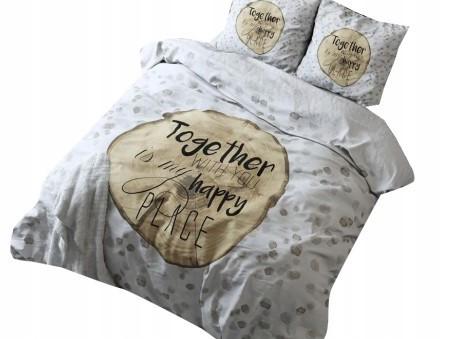KOMPLET POŚCIELI 200x220 SLEEP TIME WOOD LOVE