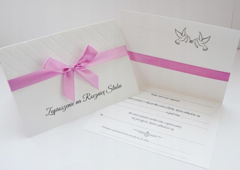 Zaproszenia Na Rocznicę ślubu Dostępne Od Ręki 6936476169