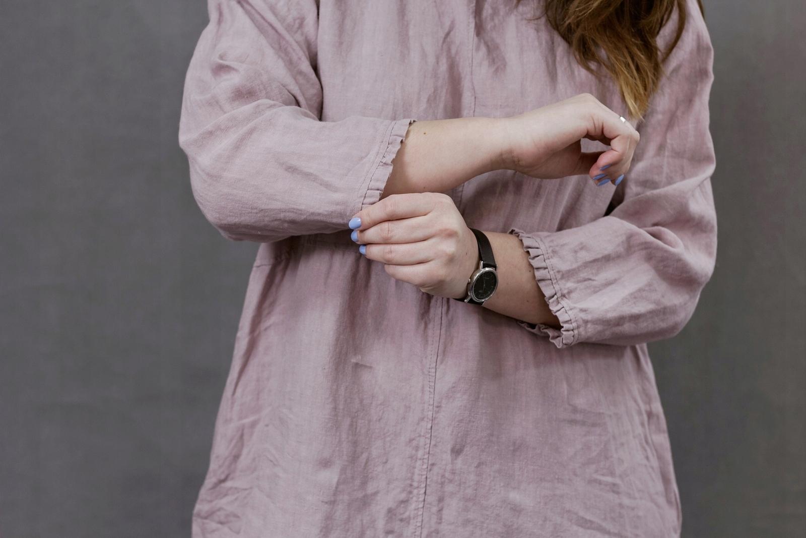 f26f307b2e Lniana tunika damska w kolorze dusty pink - 7516144017 - oficjalne ...