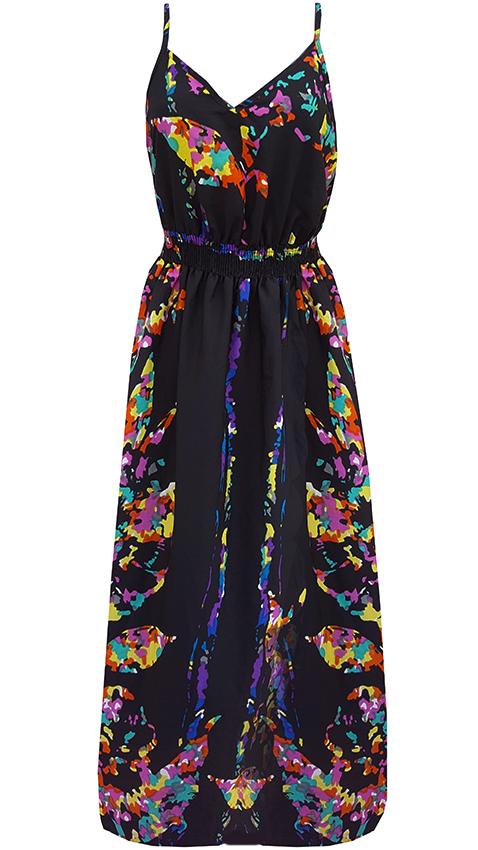 ae3e8335c3 GEORGE zwiewna sukienka piękna maxi kwiaty 42-44 - 7263272938 ...
