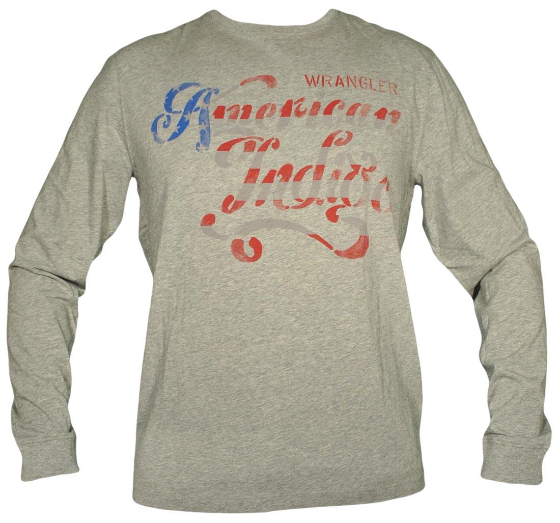 WRANGLER koszulka męska L S AMERICANA TEE   L 40 - 7325367479 ... 1e897fab3cc