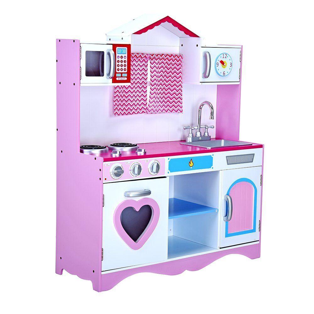Kuchnia Drewniana Kuchenka Dla Dzieci Roza Lux Y1 7316287538