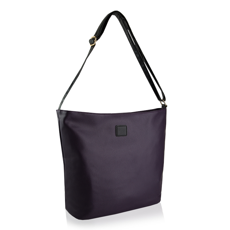 4db751d26aa5e Torebka damska shopper bag na ramię torba fiolet - 6770890031 ...