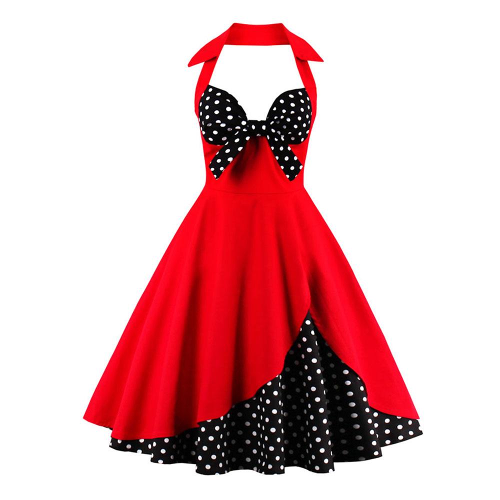 5d43841b Sukienka retro rockabilly PIN UP vintage w groszki - 7165141431 ...
