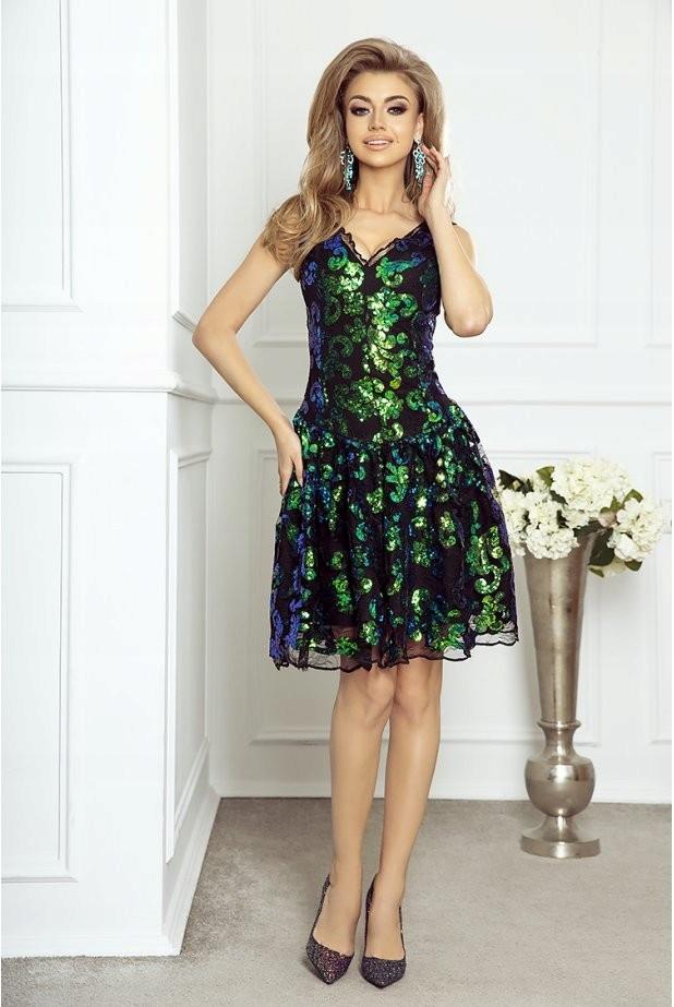 3973e439e1 Karnawałowa sukienka Kamila - z cekinami XL - 7724442476 - oficjalne ...
